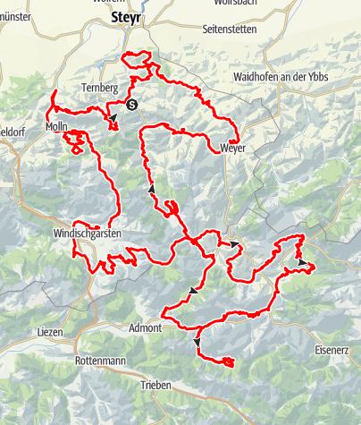 Karte / TRANS NATIONALPARK Kalkalpen & Gesäuse, mehrtägige Rundradtour