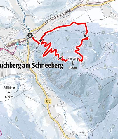 Map / Winterwanderweg auf den Himberg