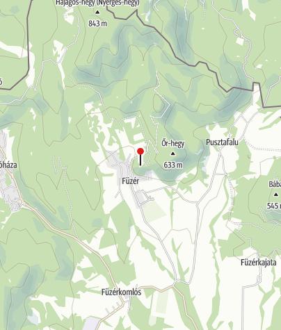Térkép / Füzéri vár