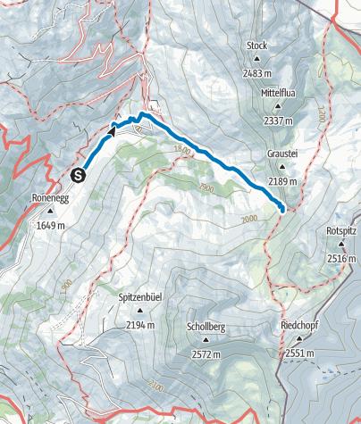 Karte / Graustein, Wäberlisch Höhle (Rätikon Ost)