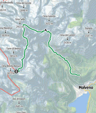 Cartina / Ferrata Osvaldo Orsi - Pradél