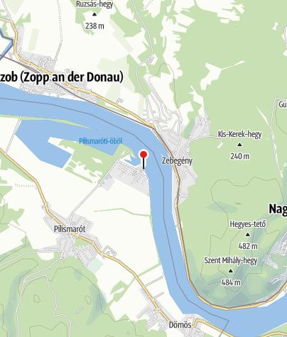Mapa / Megállóhely, szabad strand (Pilismarót)