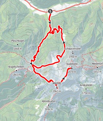 Karte / Wildfeld - Stadlstein