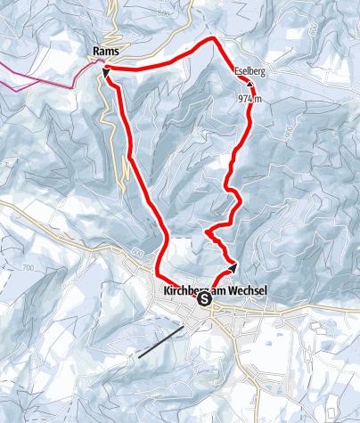 Térkép / Kalvarienberg - Kernstockwarte - Ramssattel