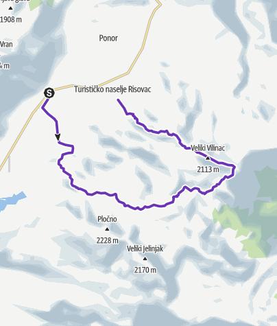 Map / Čvrsnica Ultra Trail - Blue trail 22km