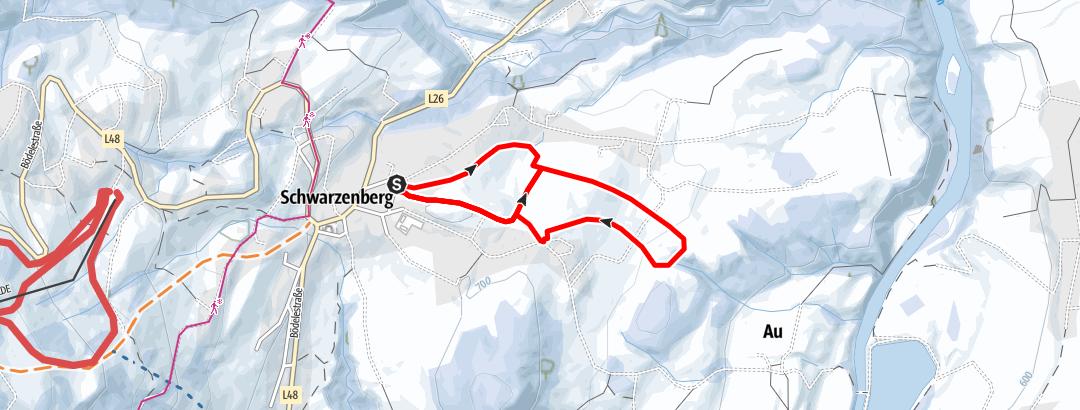 Karte / Schwarzenberg | Angelikahöhe Rundweg