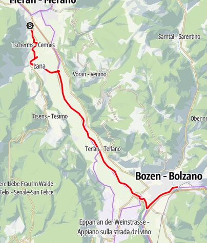 Kaart / Von Marling nach Bozen