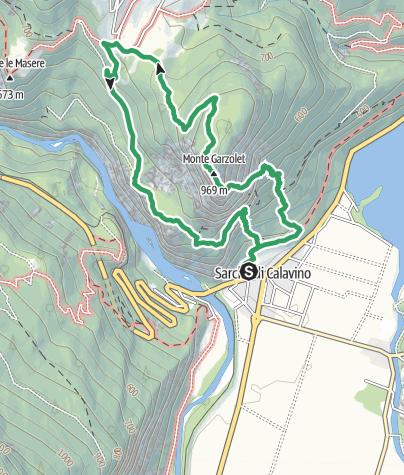 """Map / Via Ferrata """"Rino Pisetta"""" al Dain Piccolo"""