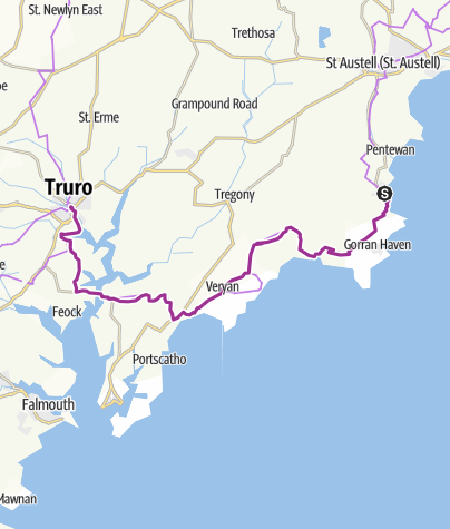 Map / Mevagissey to Truro