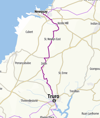 Map / Truro to Newquay