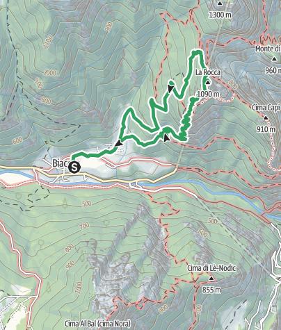 Map / Via Ferrata delle Laste e Gallerie di Cima Rocca