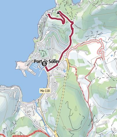 Map / Walk from Port de Soller to Torre Picada