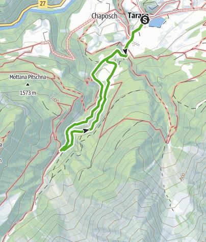 Karte / Zwergenweg - «Via dals Nanins»