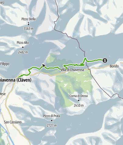 Karte / Soglio - Dasciun - Savogno