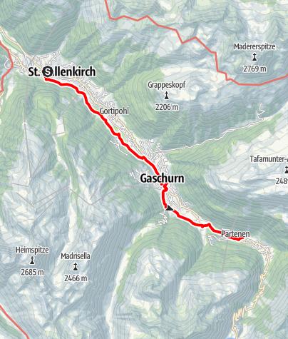 Map / Talweg St.Gallenkirch - Partenen