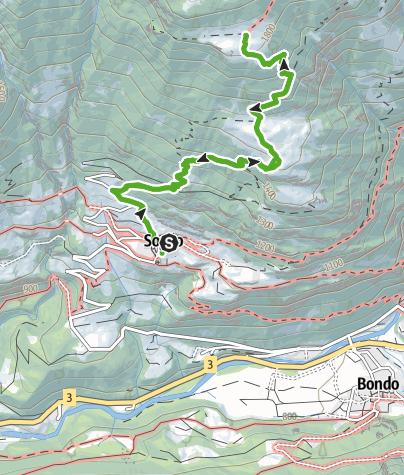 Karte / Tombal - Plan Vest- Pass da la Duana