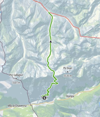 Karte / Über den Passo Bergalga