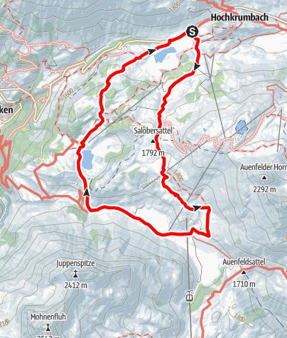 Karte / Vom Hochtannbergpass zur Auenfelderhütte Retour über den Körbersee