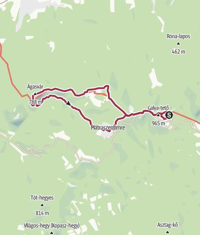 Térkép / Galyatető - Ágasvár nagy kör