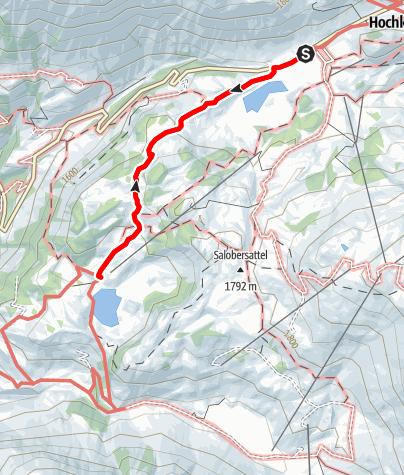 Karte / Vom Kalbelesee zum Körbersee und retour