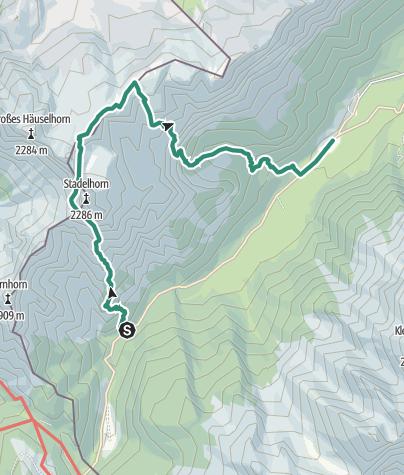 Karte / Rundtour Schaflsteig, Mayrbergscharte, Böslsteig
