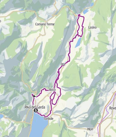 Cartina / 1. Garda Trentino Discover: dalle rive del lago a Sarche