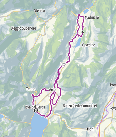 Map / 1. Garda Trentino Discover: from the lake shore to Sarche