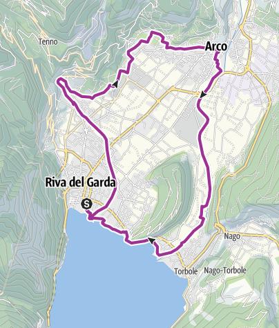 """Cartina / 2. Nel cuore del Garda Trentino: il """"giro della Busa"""""""