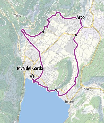 """Karte / 2. Im Herzen des Garda Trentino: Der """"Giro della Busa"""""""