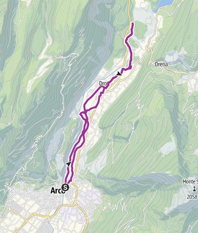 Cartina / 3. Lungo la ciclabile del Sarca verso nord: da Arco a Fies