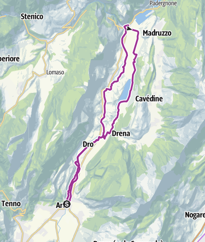 Cartina / 4. La Valle del Sarca e il lago di Cavedine (da Arco a Sarche)