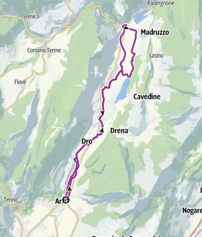 Cartina / 4.2 Verso nord sulla ciclabile del Sarca: da Arco a Sarche