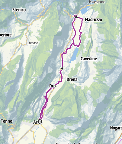 Map / 4.2 North on the Sarca cycle path: from Arco to Sarche