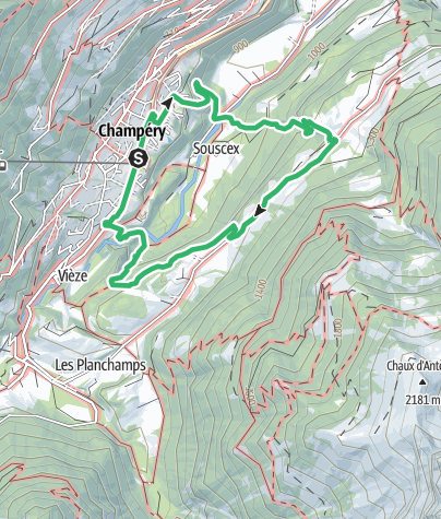 Map / Tière via ferrata
