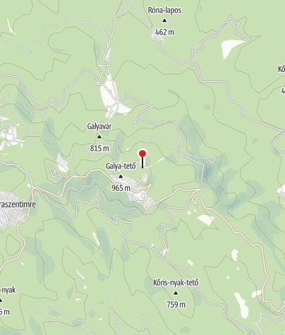 Térkép / Kilátóhely a Galya-kilátó tövében