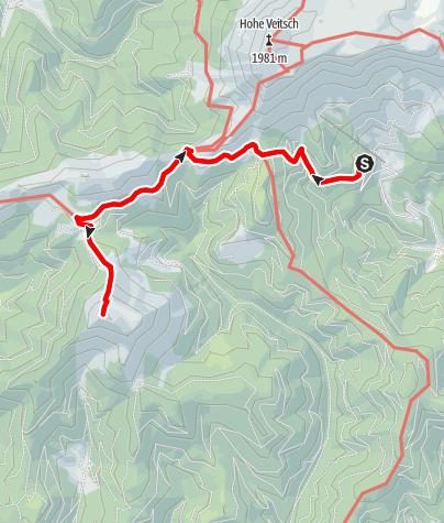 Karte / Von der Brunnalm auf den Rauschkogel