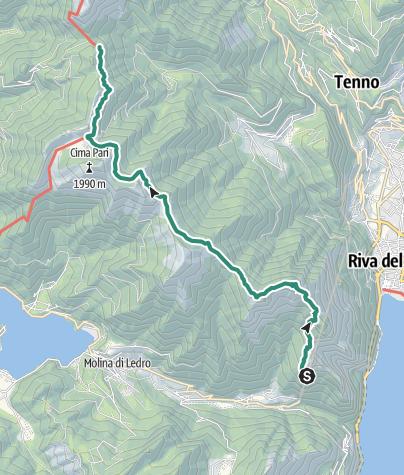 Map / Ledro Alps Trek Alpiedi - Leg 3: from Bivacco Arcioni to Rifugio Pernici