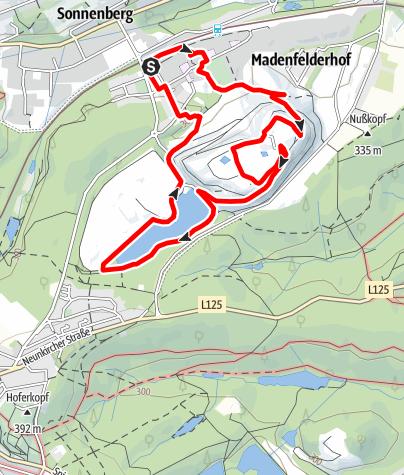 Kaart / Redener Bergbaupfade-Redener Panoramapfad