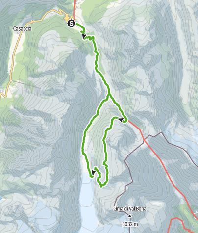 Map / Die Forno-Hütte