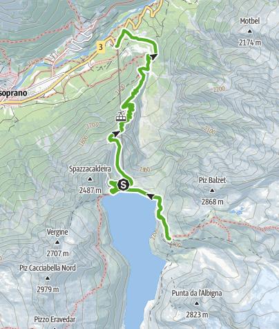 Karte / Die Albigna-Hütte