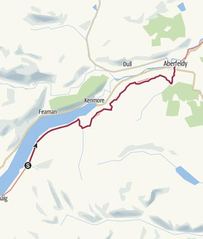 Map / Ardtalnaig to Aberfeldy
