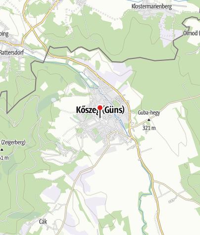 Térkép / Jézus Szíve plébániatemplom (Kőszeg)