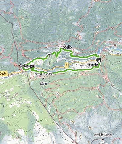 Kaart / Bondo - Castasegna - Brentan