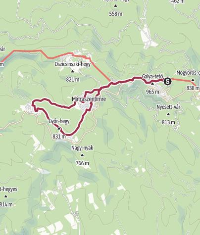Mapa / Zarándokút az Erdők Királynéjához