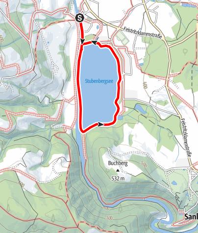 Karte / Seerundweg -Stubenbergsee