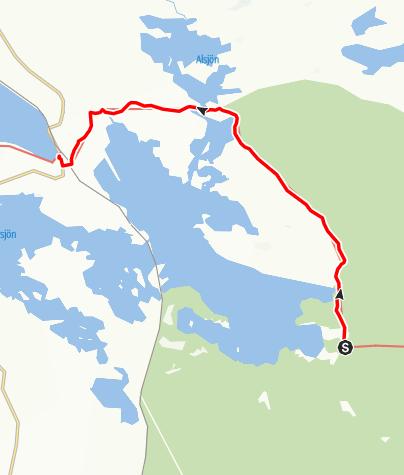 Karta / Stråsjöleden, Sandvik till Hennan