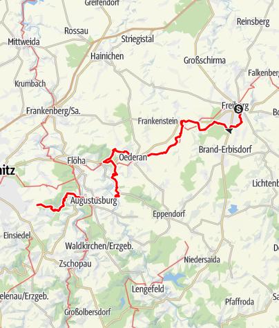 Karte / Nationaler Fernwanderweg Ostsee-Saaletalsperren