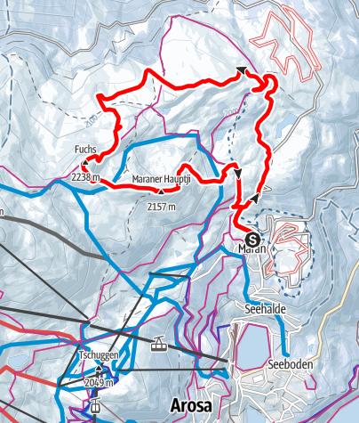 Map / Maran-Prätschalp-Scheidegg-Fuchs-Hauptichopf-Maran Round Tour