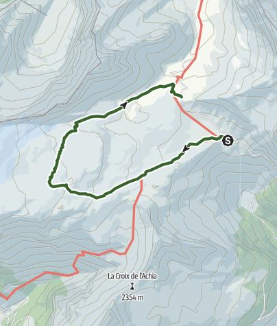 Map / Lapis de Tsanfleuron - geological trail in the Sanetsch area