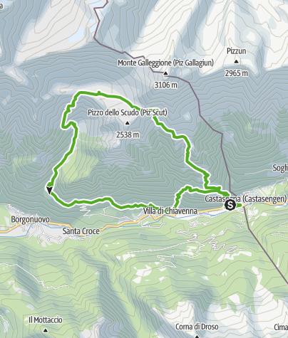 Karte / über den Passo del Turbine